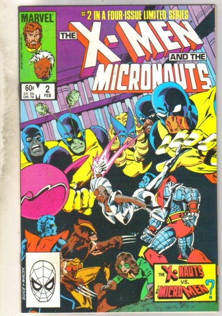 X-Men and the Micronauts #2 comic book near mint 9.4