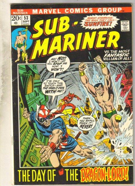 Sub-Mariner #53 comic book fine 6.0