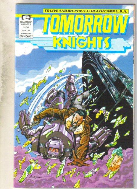 Tomorrow Knights #5 comic book near mint 9.4