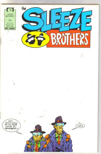 Sleeze Brothers #3 comic book near mint 9.4