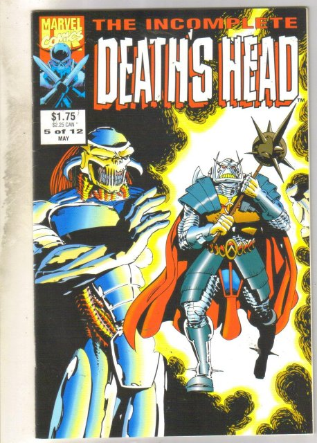 Incomplete Death's Head #5 comic book near mint 9.4