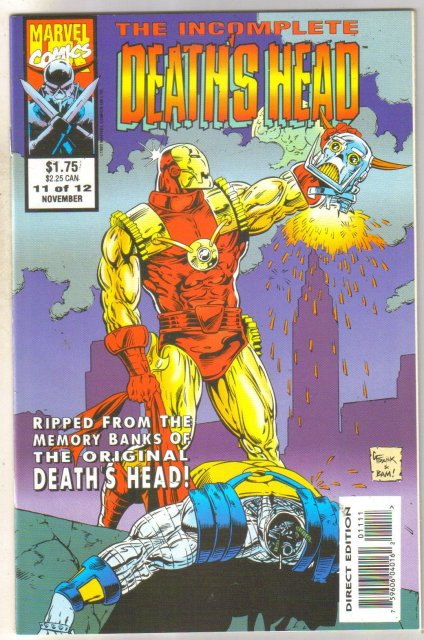 Incomplete Death's Head #11 comic book mint 9.8