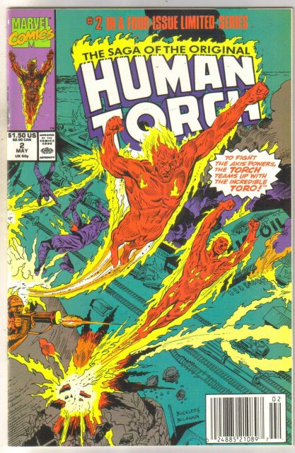 The Saga of the Original Human Torch #2 comic book near mint 9.4