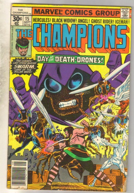 Champions #15 comic book very good 4.0