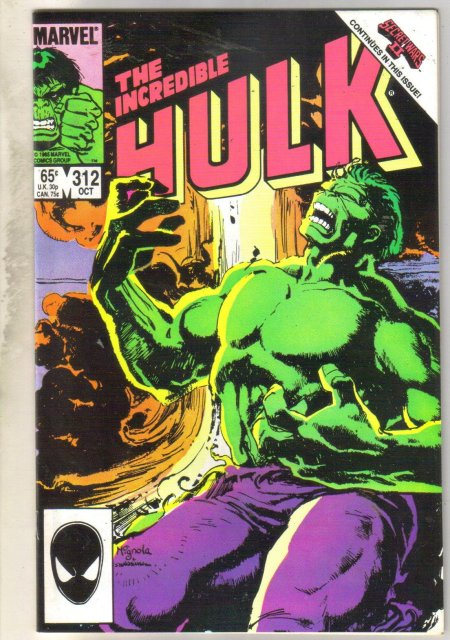 Incredible Hulk #312 comic book near mint 9.4