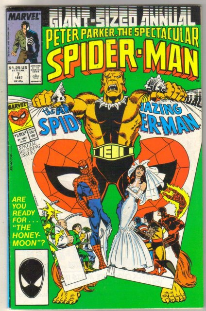 Spectacular Spider-man Annual #7 comic book fine 6.0
