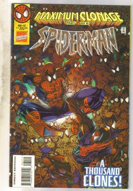 Spider-man #61 comic book near mint 9.4