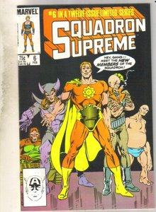 Squadron Supreme #6 comic book near mint 9.4