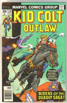 Kid Colt Outlaw #210 comic book very good/fine 5.0