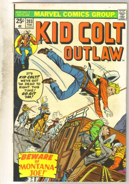Kid Colt Outlaw #203 comic book very fine/near mint 9.0