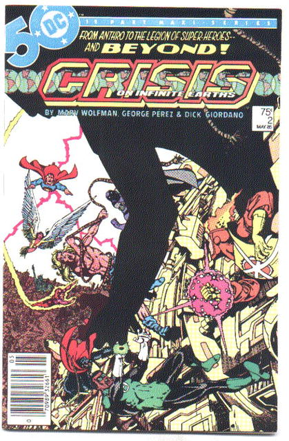 Crisis on Infinite Earths #2 comic mint 9.8