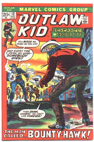 Outlaw Kid #12 comic book vf 8.0