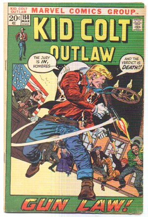 Kid Colt Outlaw #158 comic book fn 6.0