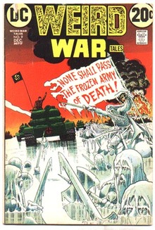 Weird War Tales #9 comic book vg+ 4.5