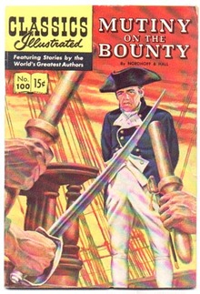 Classics Illustrated #100 hrn#100 vg/fn 5.0 (Mutiny on the Bounty) comic book