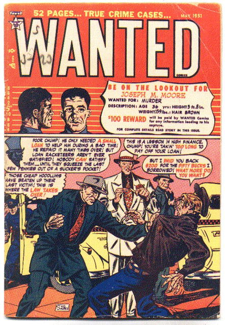 Wanted Comics #37 comic book vg+ 4.5