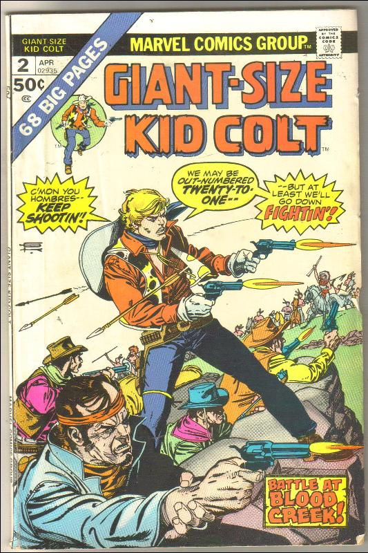 Giant-Size Kid Colt #2 comic book very good/fine 5.0