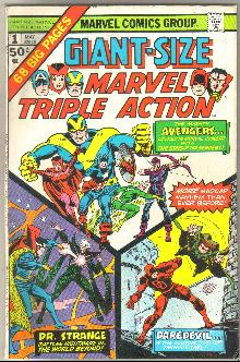 Giant-Size Marvel Triple Action #1 comic book very fine 8.0