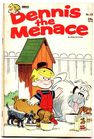 Dennis the Menace #130 comic book fn/vf 7.0