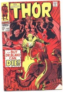 Thor #153 comic book vg/fn 5.0