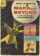 Walt Disney's Mars and Beyond comic book vg- 3.5