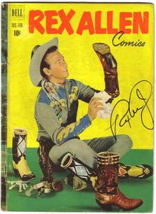 Rex Allen #3 comic book vg autographed