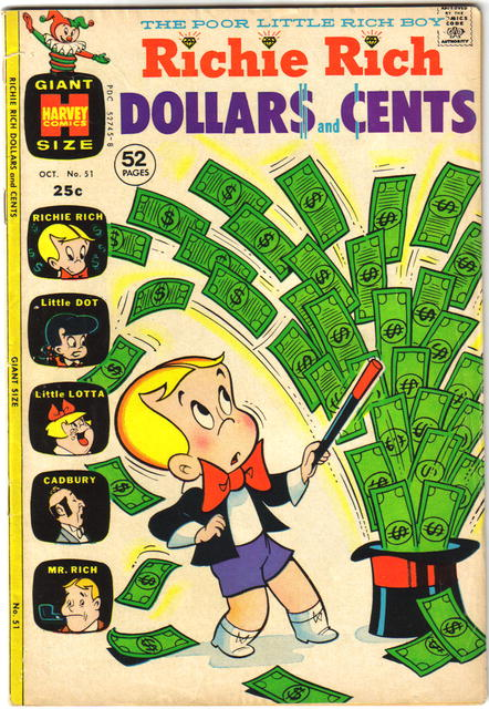 Richie Rich Dollars and Cents #51 comic book fn 6.0