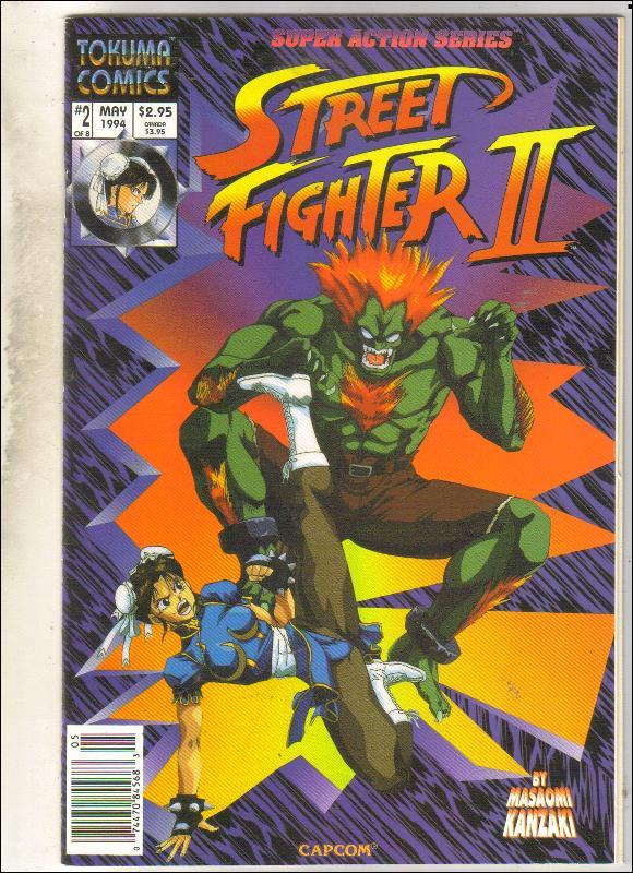 Street Fighter II #2 comic book near mint 9.4