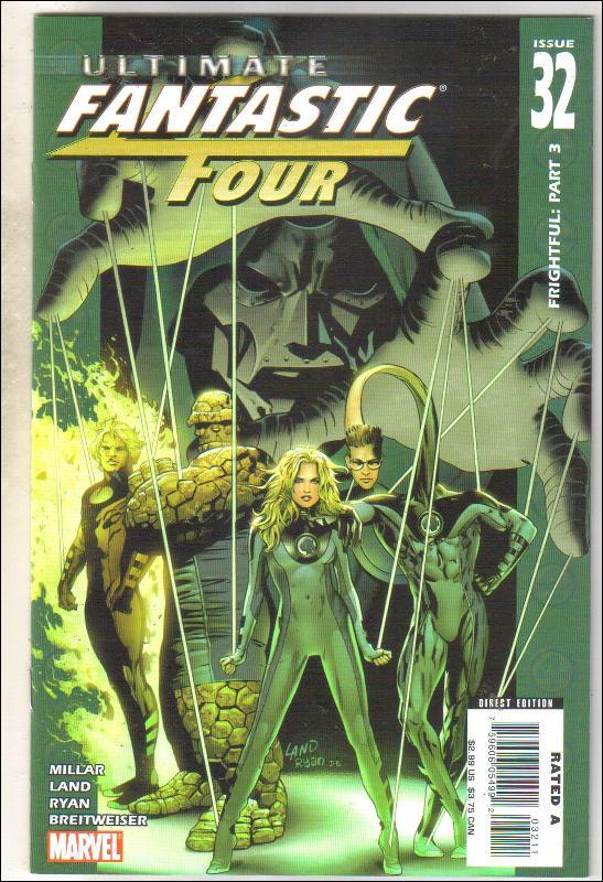 Ultimate Fantastic Four #32 comic book near mint 9.4