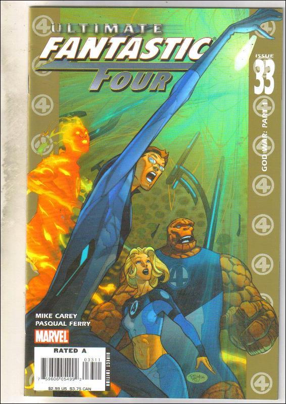 Ultimate Fantastic Four #33 comic book near mint 9.4