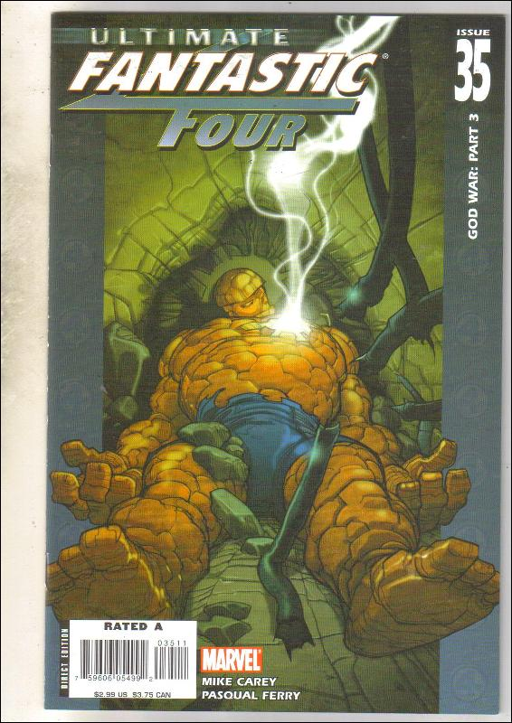 Ultimate Fantastic Four #35 comic book near mint 9.4