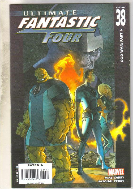 Ultimate Fantastic Four #38 comic book near mint 9.4