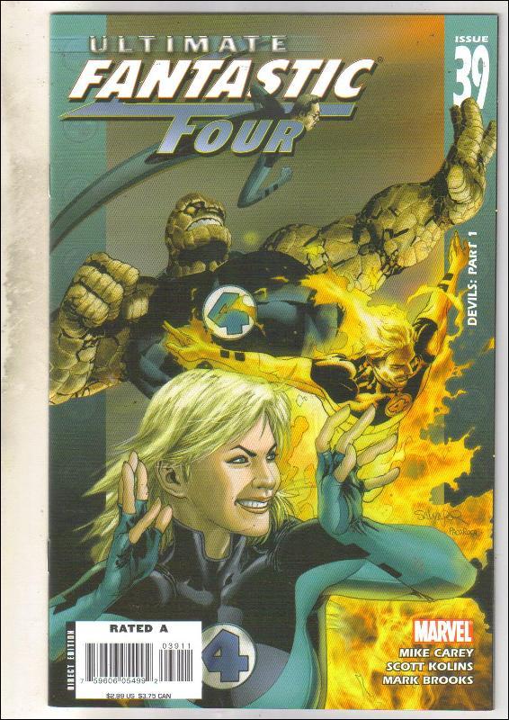 Ultimate Fantastic Four #39 comic book near mint 9.4