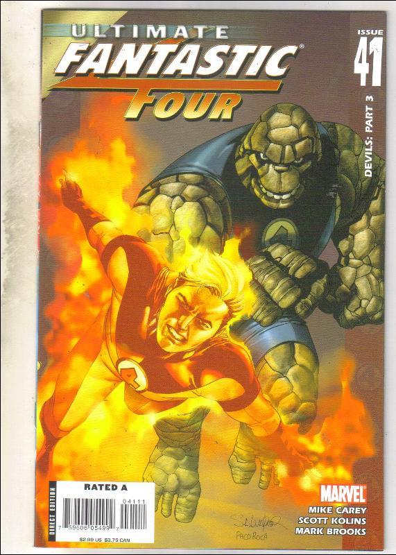 Ultimate Fantastic Four #41 comic book near mint 9.4