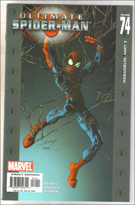 Ultimate Spider-man #74 comic book near mint 9.4