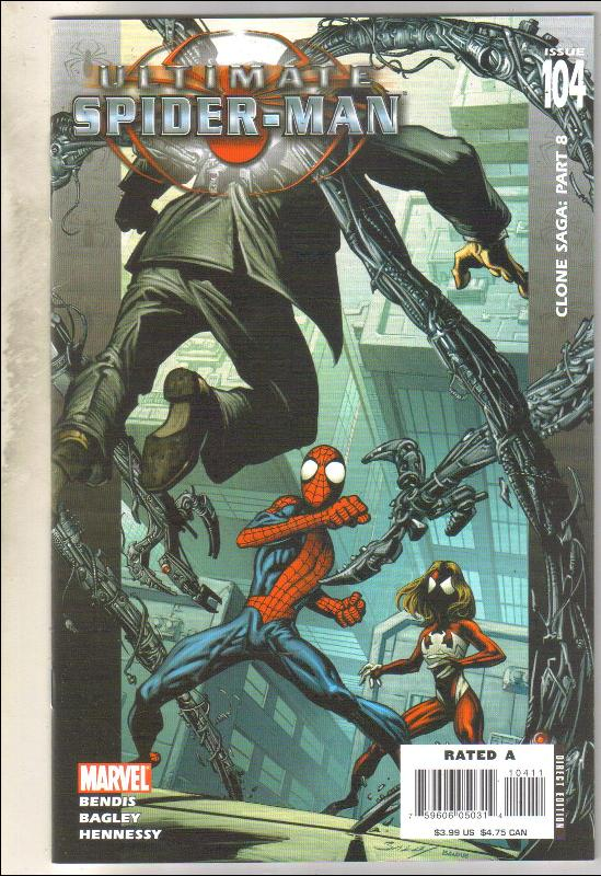 Ultimate Spider-man #104 comic book near mint 9.4