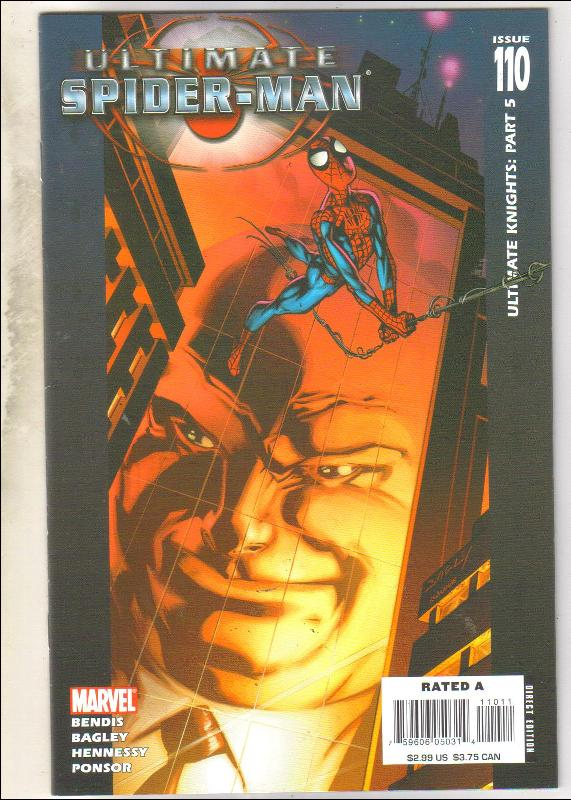 Ultimate Spider-man #110 comic book near mint 9.4