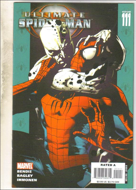 Ultimate Spider-man #111 comic book near mint 9.4