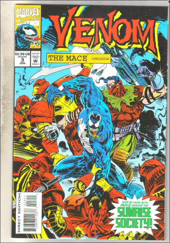Venom The Mace #3 comic book  mint 9.8