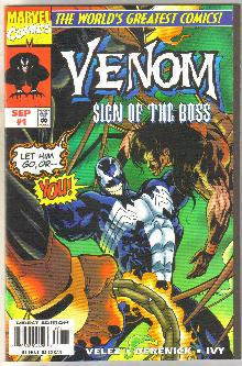 Venom Sign of the Boss #1 comic book near mint 9.4