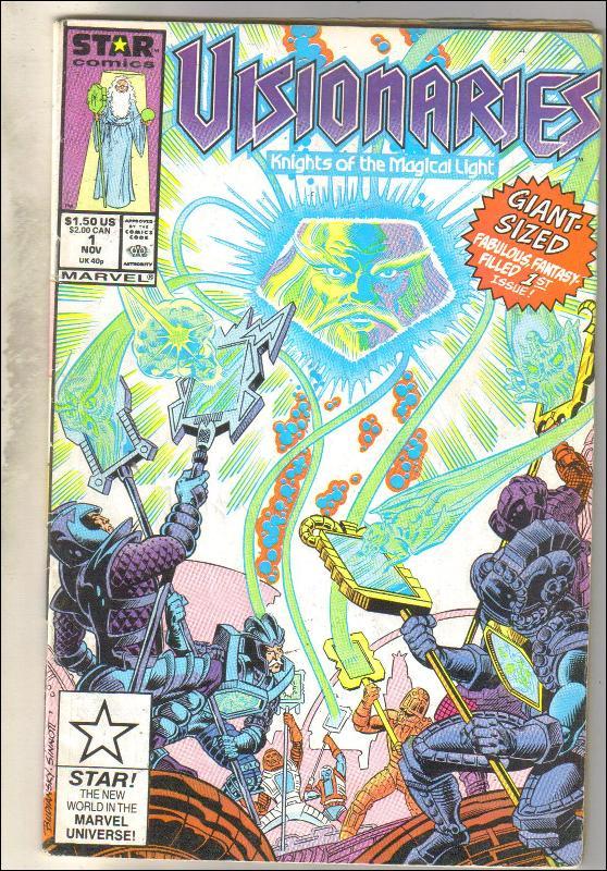 Visionaries #1 comic book very good 4.0