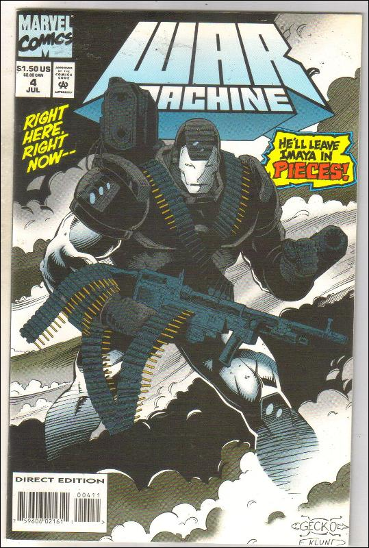War Machine #4 comic book mint 9.8