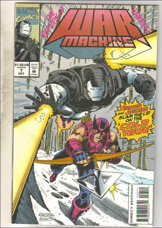War Machine #7 comic book near mint 9.4