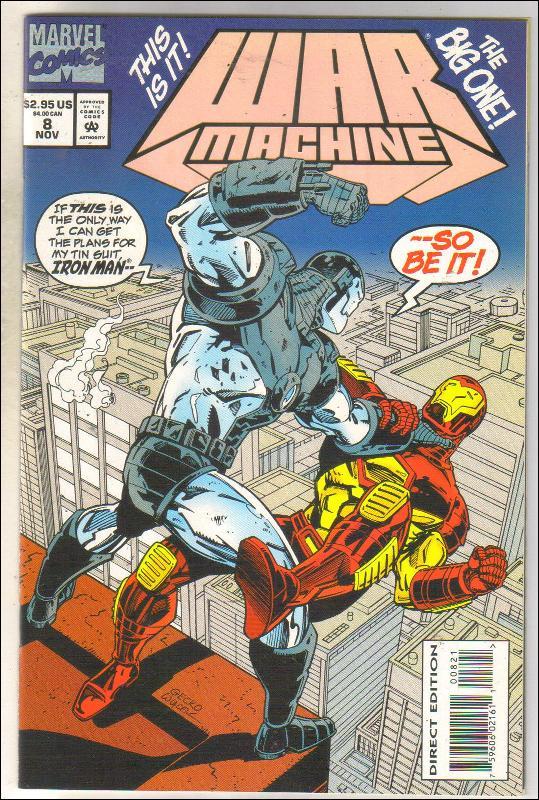 War Machine #8 comic book mint 9.8