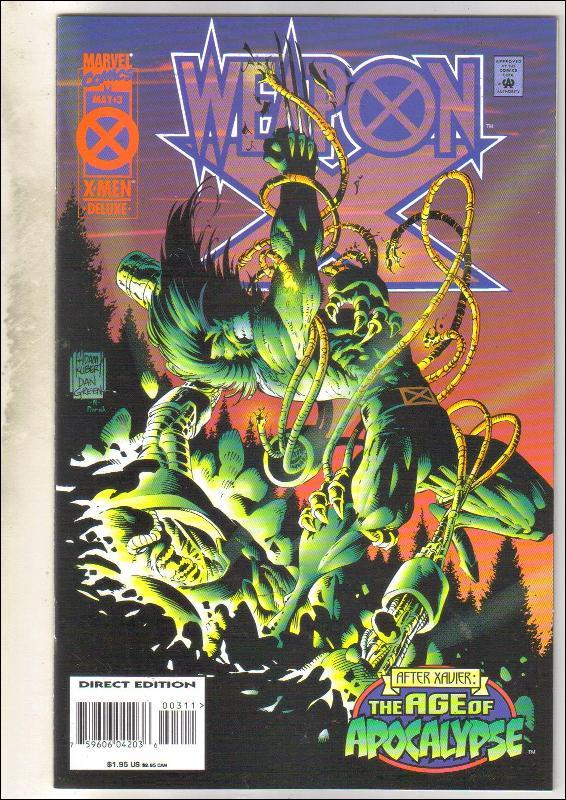 Weapon X #3 comic book near mint 9.4