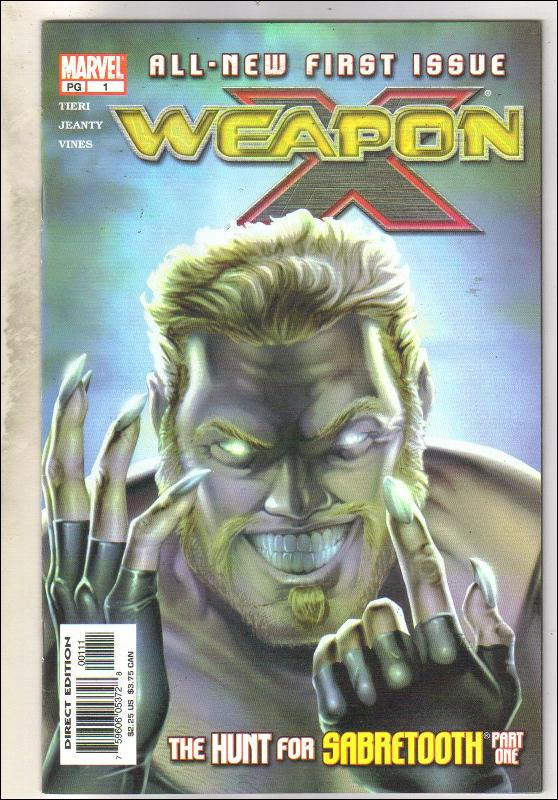Weapon X #1 comic book mint 9.8