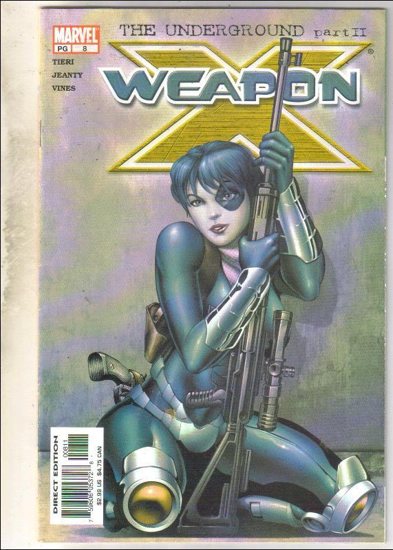 Weapon X #8 comic book fine 6.0