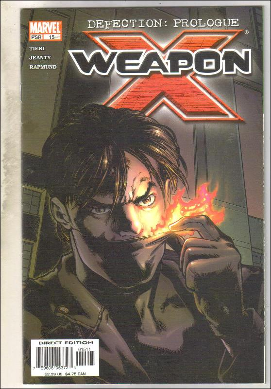 Weapon X #15 comic book very fine/near mint 9.0