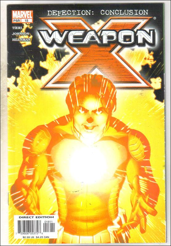 Weapon X #18 comic book fine 6.0