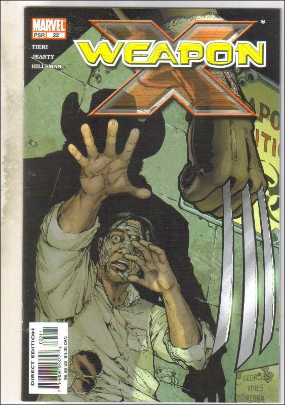 Weapon X #22 comic book near mint 9.4